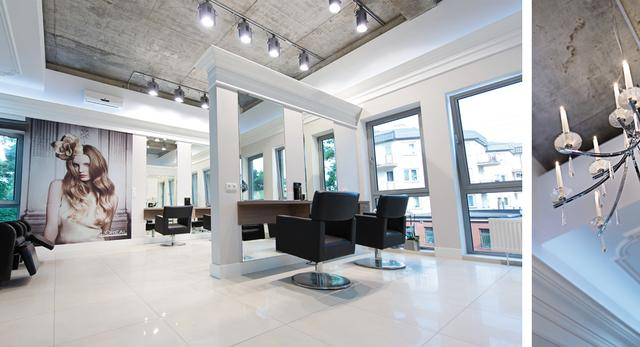 Aranżacja wnętrza salonu fryzjersko-kosmetycznego w Otwocku